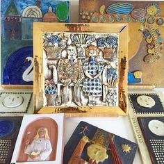 1960-70年代、スウェーデンやデンマーク製の壁掛け陶板。立体的な陶器製の陶板は、絵画やポスターとはひと味違った印象です。Lisa Larson、Stig Lindberg、Sylvia Leuchoviusのアートピース作品からリーズナブルな陶板まで沢山ございます。絵画を飾るようにお部屋に彩りを。販売価格:2,500円~150,000(税込)<ten kara ten>