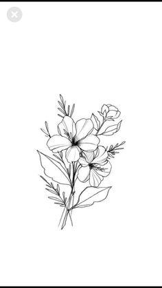 dessins de tatouage 2019 25 Beautiful Flower Drawing Information & Ideas - Tattoo Designs Photo Simple Flowers, Amazing Flowers, Floral Flowers, Wild Flowers, Rose Flowers, Flowers Nature, Flowers Garden, Spring Flowers, Flower Tattoo Designs