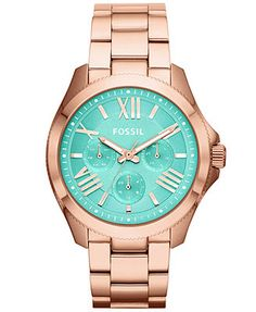 32f98e158e17 Fossil Women s Cecile Rose Gold-Tone Stainless Steel Bracelet Watch 40mm  AM4540 Jewelry   Watches - Watches - Macy s