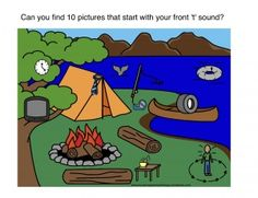 Use this free scene to help elicit initial /r/ sounds in ...