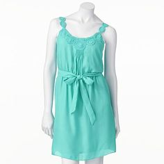 LC Lauren Conrad Crochet Pintuck Dress