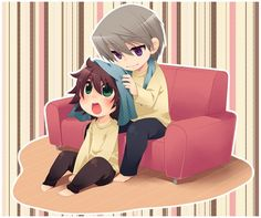 Usagi e Misaki chibi