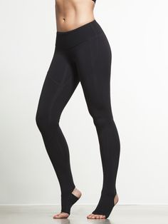 If you need to get a grip, these leggings are right up your alley. Why use grippy socks or minimal shoes with a pair of leggings when you can get the same performance FROM your leggings? Each stirrup on these moisture-wicking compression bottoms is covered with grippy material, ensuring that no matter what position you're in, you'll stay secure.  Focus on your pose, and not on whether or not you're too sweaty to hold it.
