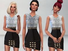 The Sims Resource: Modern Dress by Puresim • Sims 4 Downloads