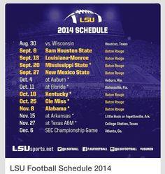 2014 LSU Football Schedule