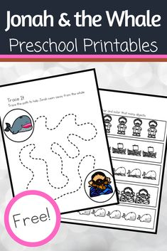 This pack of Jonah and the Whale preschool printables will help you extend the learning after reading your favorite version of the Bible story. Kids Sunday School Lessons, Sunday School Projects, School Kids, Summer School, Bible Story Crafts, Bible Crafts For Kids, Bible Stories, Toddler Crafts, Jonah Craft