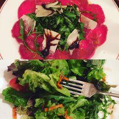 Abendessen Rindercarpaccio (das erste Mal in meinem Leben... Sehr gut  - das wird nicht das letzte Mal gewesen sein ) und Salat  - ich hoffe die Waage wird mir treu bleiben  - habt noch einen schönen abend :) #potd #swk #münchen #stoffwechselkur #selfmade #fit #frankfurt #instafood #instadaily #healthy #hcgdiät #hcgrezepte #hcgdiet #lowcarb #yummy #weightloss #weightlossjourney #läuft #beimirläufts #mealprep #mybodyproject #foodporn #nomorecheatdays #abnehmen #lossweight #diät #diet…