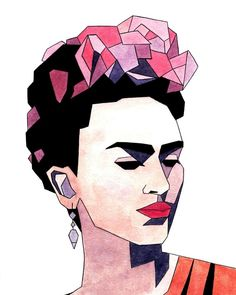 22 Illustrations that Pay tribute to Frida Kahlo (Note the article is written in Spanish/Español) Art Photography, Sketches, Fine Art, Drawings, Illustration Art, Art, Fine Art Prints, Frida Kahlo Art, Hoop Art