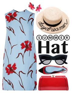 """Top It Off: Summer Hats"" by miee0105 ❤ liked on Polyvore featuring Miu Miu, Eugenia Kim, MKF Collection, Lanvin, Oscar de la Renta and summerhat"