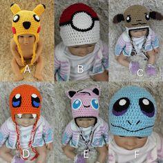 Handmade crochet Pokémon go baby/ toddler hat . by Stephbabystudio