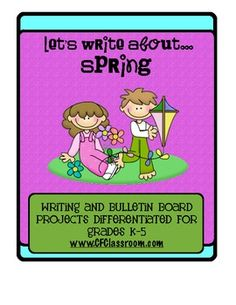 SPRING KITES: A differentiated writing resource for grades K-5. This resource contains 13 printable pages of thematic materials to use in your K-5 classrooms.     There are 2 full color printables to be used as class book covers or as titles on your bulletin boards when displaying the student writing.