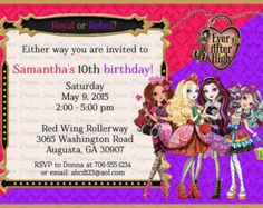 invite ever after high - Pesquisa Google