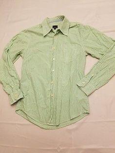 98dc48d3f3541b Calvin Klein Jeans womens S small button up shirt green stripe women long  sleeve. Negroni Vintage