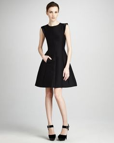 49cb8f6aeebb Flared Faille Dress by Halston Heritage at Neiman Marcus. Contemporary  Dresses, Contemporary Fashion,