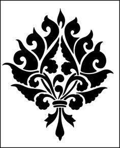 Motif No 6 Stencil From The Library GOTHIC MEDIEVAL AND TUDOR Range Buy