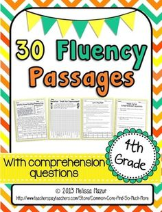 4th Grade - 30 Reading Fluency and Comprehension Passages More 4nd Grade at: www.TutorFrog.com