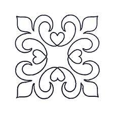 Fleur de lis pattern. Use the printable outline for crafts