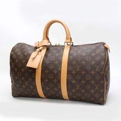 Louis Vuitton Keepall 45 Monogram Handle bags Brown Canvas M41428