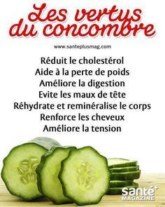 Les vertus du concombre