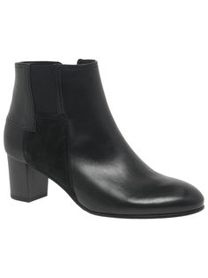 44f4974fb2725 BuyGabor Nuthatch Wide Fit Ankle Boots, Black Leather, 3 Online at  johnlewis.com