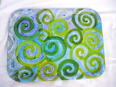 Tablett aus Papiermaché von Albert Ellensohn Papiermaché seit 1981 auf DaWanda.com