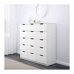 IKEA - NORDLI, Cassettiera con 15 cassetti, , La casa deve essere un luogo sicuro per tutta la famiglia. Ecco perché è incluso un accessorio di sicurezza con cui fissare la cassettiera alla parete.Puoi usare una sola cassettiera o combinarne diverse, per creare una soluzione allo spazio che hai a disposizione.Puoi creare il tuo stile combinando cassettiere di diversi colori.L'ammortizzatore integrato frena il cassetto, facendolo chiudere lentamente e silenziosamente.Le guide di scorr...