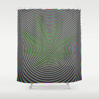 Trippy Colors White Shower Curtain