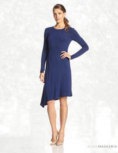 BCBGMAXAZRIA Women's Asymmetrical Draped Dress