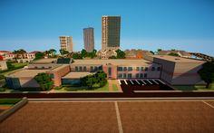 Minecraft suburbs school