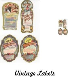 JDayMinis, Life, Antique Inspiration, Freebies: Free Images, Vintage Labels 1:12 & 1:48 scale