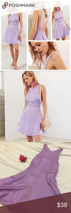 • SALE • UO Silence & Noise Dress Cute fit and flare open back dress in a lilac lavender color by Silence + Noise from urban outfitters Urban Outfitters Dresses Backless