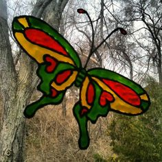 Stonehatch Bird Perched On A Branch Etched Vinyl Stained Glass - Custom vinyl decals for glass removal options