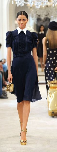 Ralph Lauren's Pre-Spring 2015 Collection is about modern glamour, easy sophistication and feminine refinement