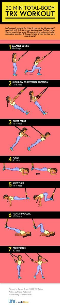 This beginner-friendly TRX workout will strengthen and tone the whole body — in just 20 minutes flat. Time to get TRX-ercising! http://www.amazon.de/dp/B00RLH0M6C http://www.amazon.co.uk/dp/B00RLH0M6C