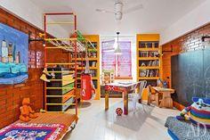 Casinha colorida: Para famílias, um loft espetacular