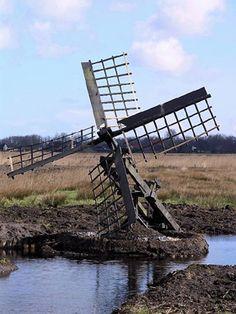 Polder mill (paaltjasker), Veenwouden, The Netherlands Amsterdam, Wind Mills, Le Moulin, Covered Bridges, Middle Ages, Dutch, Models, World, City