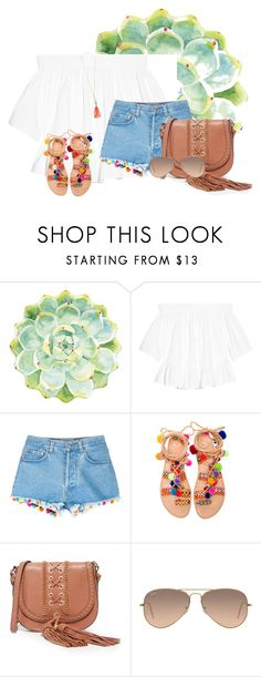 """Good morning!!!"" by annaewakefield ❤ liked on Polyvore featuring Merritt, Elizabeth and James, Forte Forte, Elina Linardaki, Foley + Corinna and Ray-Ban"