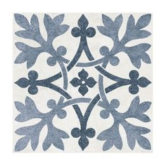 This design has been adapted from an earthenware tile, designed by the master of Gothic Revival, A. Pugin after a medieval floor tile. Using timeless blue tones Pugin Filigree this porcelain wall and floor tile features an in. Modern Floor Tiles, Bathroom Floor Tiles, Wall And Floor Tiles, Wall Tiles, Kitchen Tiles, Hearth Tiles, Tiles Direct, Tiled Hallway, Hall Flooring