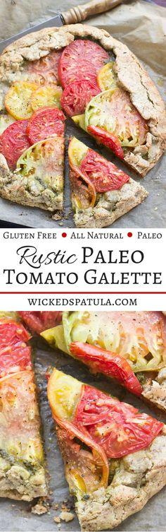 Rustic Paleo Tomato Galette | wickedspatula.com