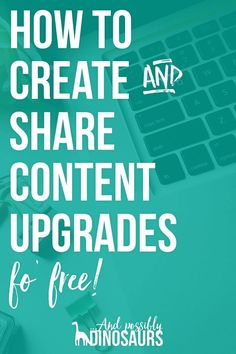 Want to offer content upgrades to grow your email list, but not sure how? Good news! I've got an entire post detailing how to do it, as well as a FREE worksheet to walk you through the process! Click through to find out more!