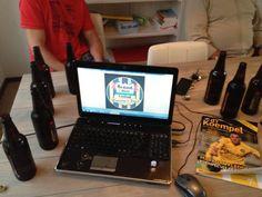 Productieve vergadering @BrandBeerUnited over uitwerken creatieve naam en logo. Uiteraard icm @brand_bier :-) #brandbier