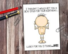 Naughty Stick People Sexy Stud For Your Birthday by PrintThatSign