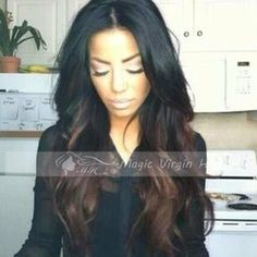 Online Shop Ombre Wig Brazilian Virgin Hair Full Lace Human Hair Wigs Glueless Full Lace Wigs Lace Front Wigs For Black Women|Aliexpress Mobile