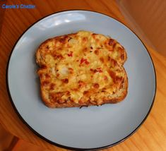 Carole's Chatter: Gingered Crab Rarebit - worthy of a second outing Grated Cheese, Creme Fraiche, Slimming World Recipes, Slice Of Bread, Fish And Seafood, Tray Bakes, Bread Recipes, Quiche, Friday