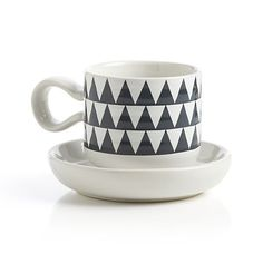 Elsa Espresso Cup with Saucer in Coffee Mugs & Teacups by Camilla Engdahl