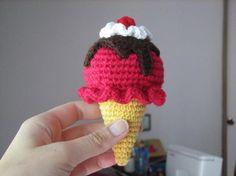 Crocheting: Crocheted Ice cream Teddy Bear