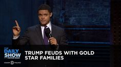 Trump Feuds with Gold Star Families: The Daily Show - YouTube