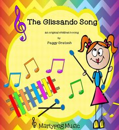 "The ""Glissando Song"" gives your children permission to play glissandos as part of a humorous little song-story about Gracie Gordon. As a direct result, your students will come to understand the complicated concept of ""up,"" and ""down"" on the barred instruments they play. (With just one mallet, even your first graders will be able to perform the song!)*"