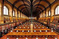 Biblioteca de Sainte Geneviève, París, Henri Labrouste, Sala de Lectura.