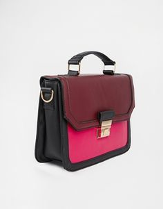 5464fe3d7c Agrandir New Look - Sac bandoulière structuré color block Diy Bags, Color  Blocking, Asos